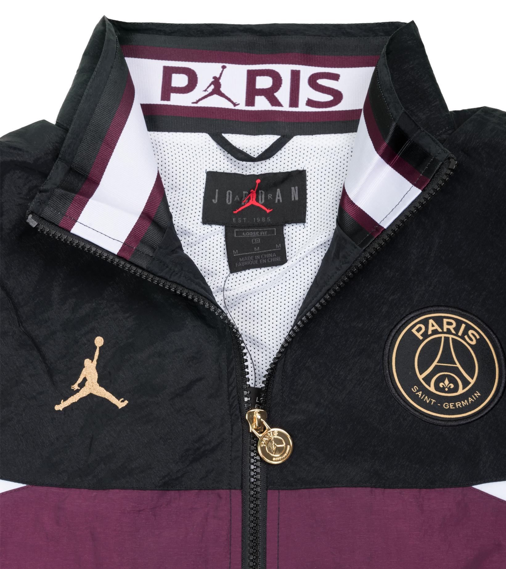 "PSG Anthem Jacket ""Black/Bordeaux""-5"