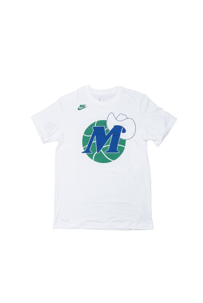 "Dallas Mavericks Classic Edition '20 Dri-Fit Logo Tee ""White"""