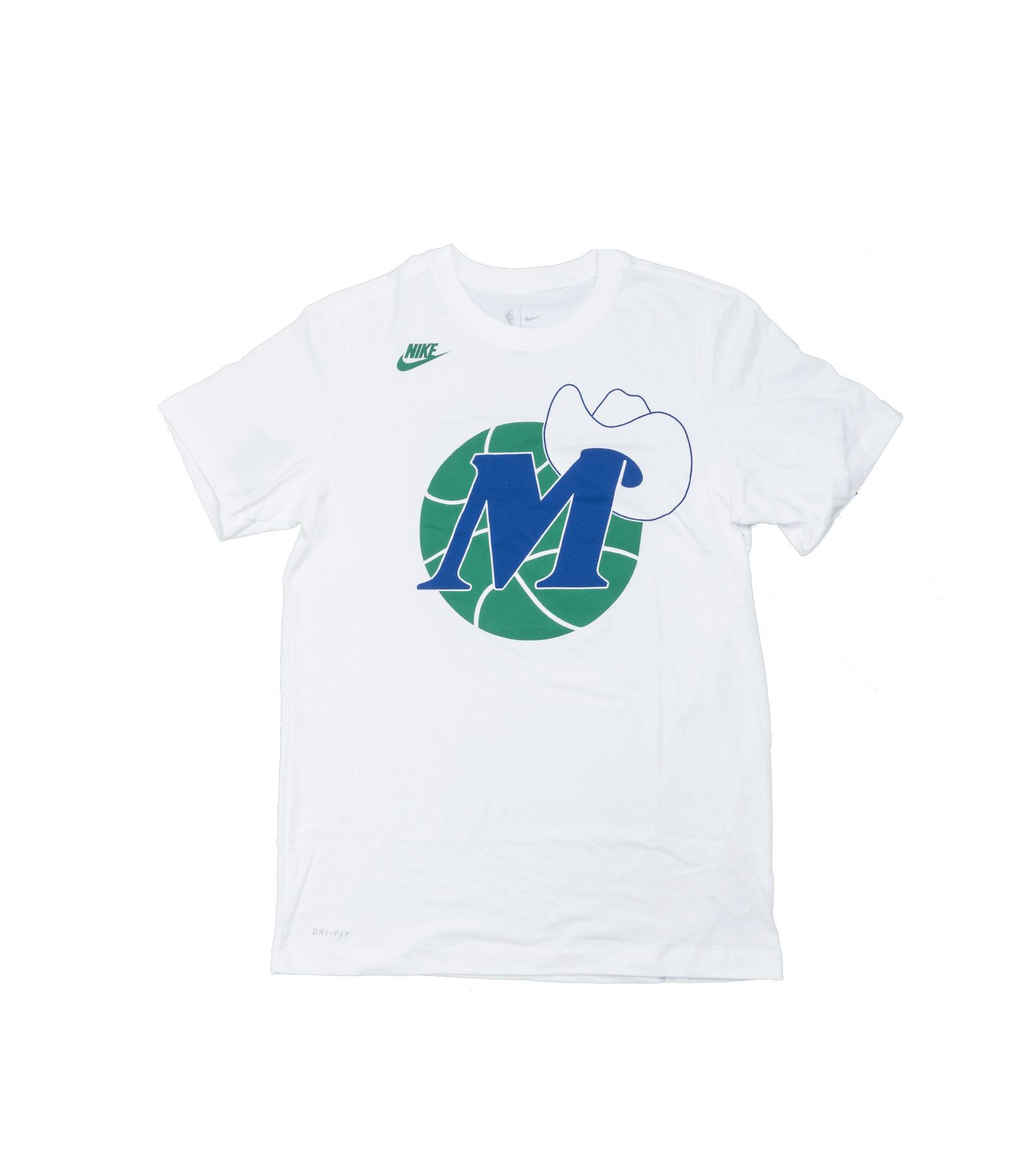 """Dallas Mavericks Classic Edition '20 Dri-Fit Logo Tee """"White""""-1"""