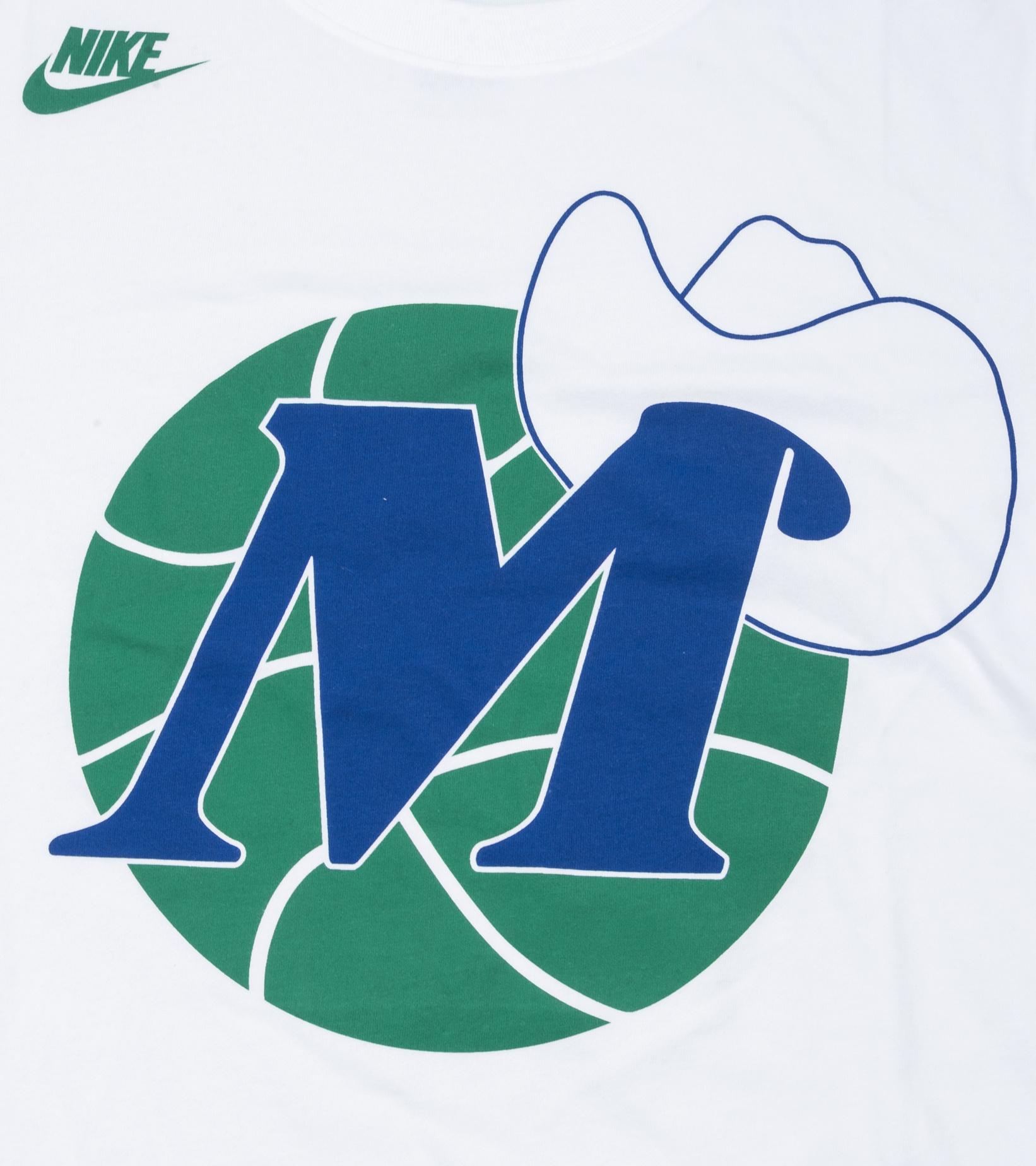"""Dallas Mavericks Classic Edition '20 Dri-Fit Logo Tee """"White""""-2"""
