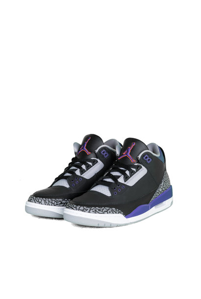 "3 Retro ""Black/Court Purple"""