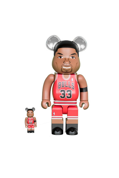 "Scottie Pippen (Chicago Bulls) 100% & 400% Be@Rbrick ""Red"""