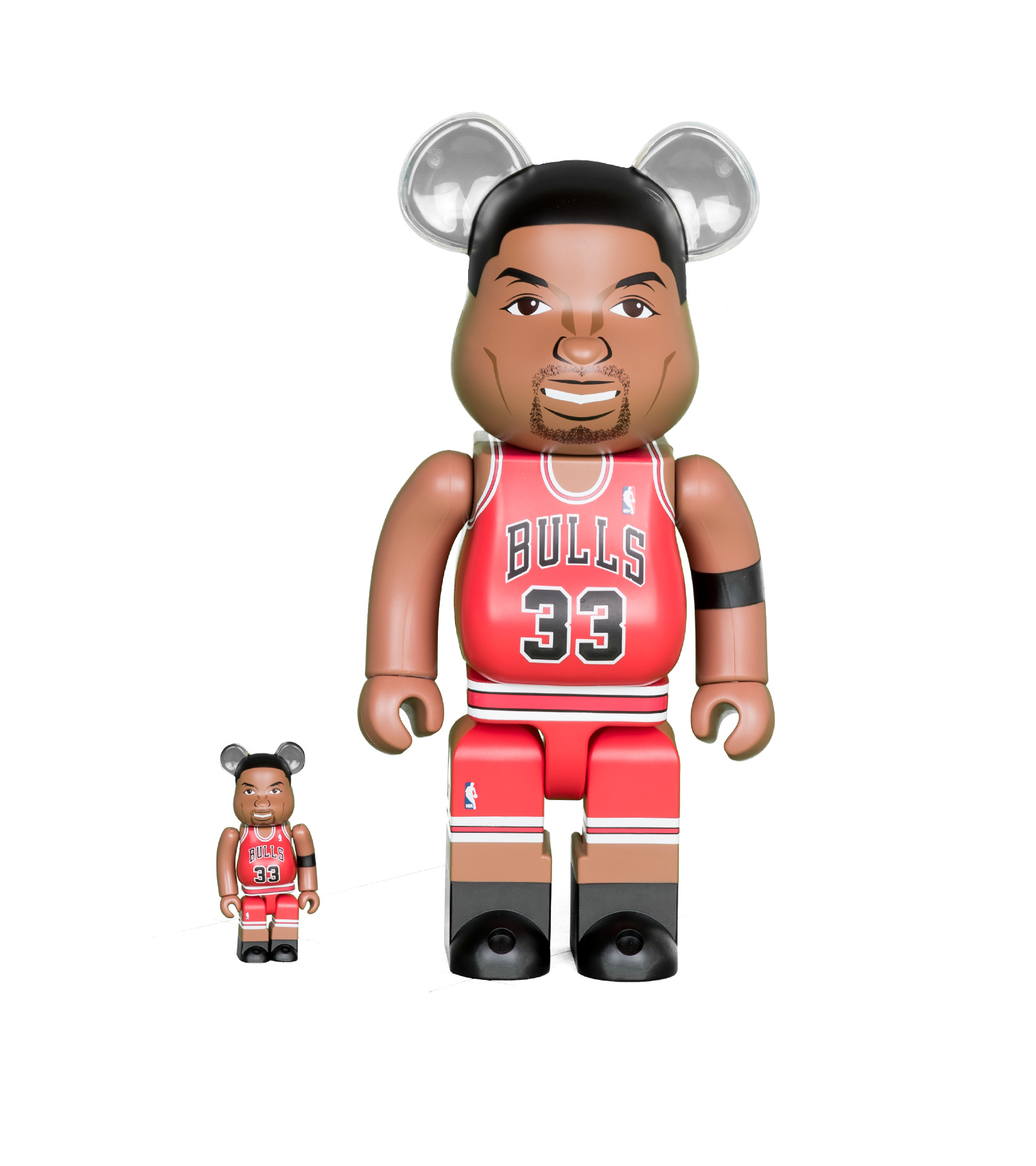 "Scottie Pippen (Chicago Bulls) 100% & 400% Be@Rbrick ""Red""-1"