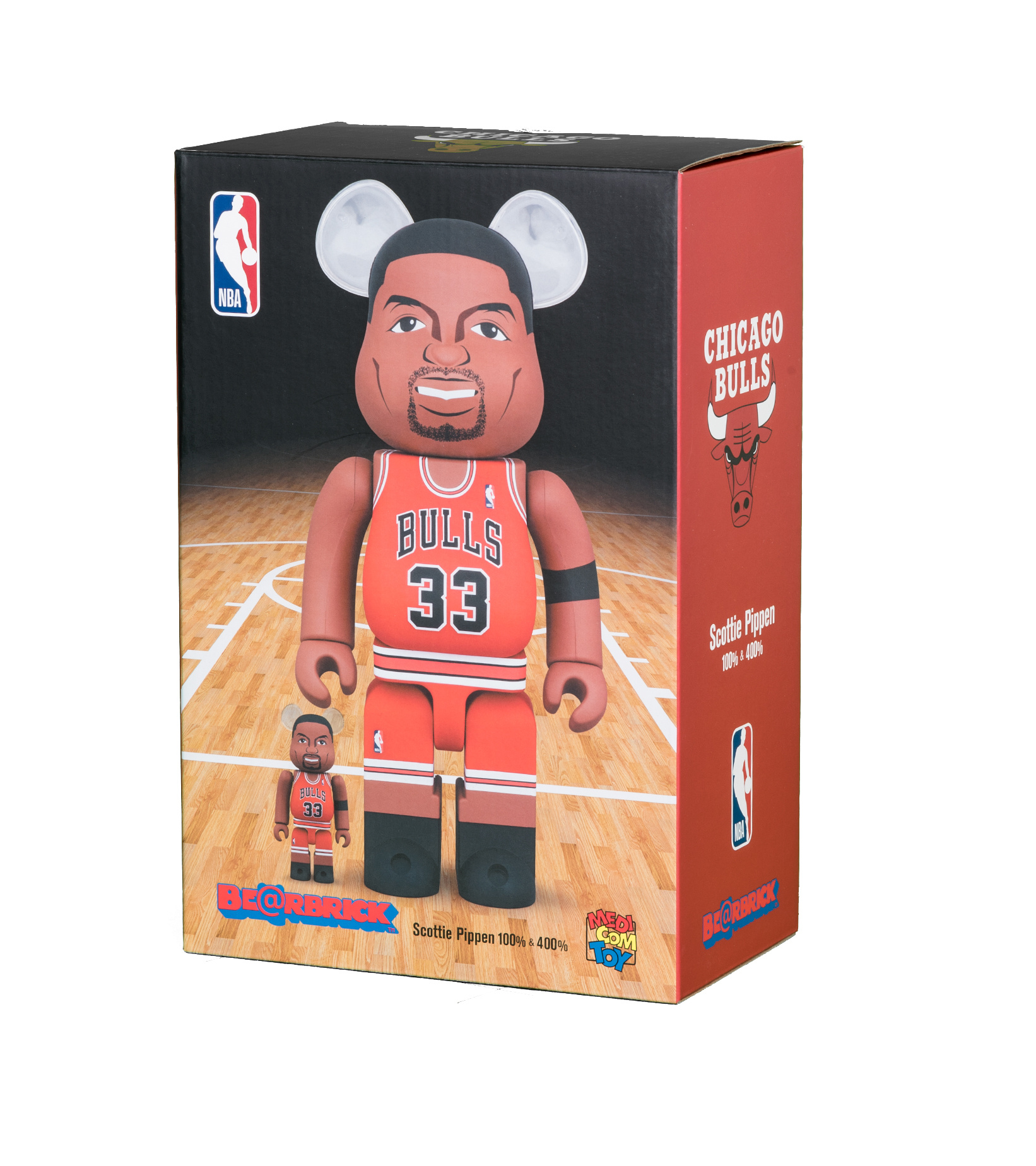 "Scottie Pippen (Chicago Bulls) 100% & 400% Be@Rbrick ""Red""-2"