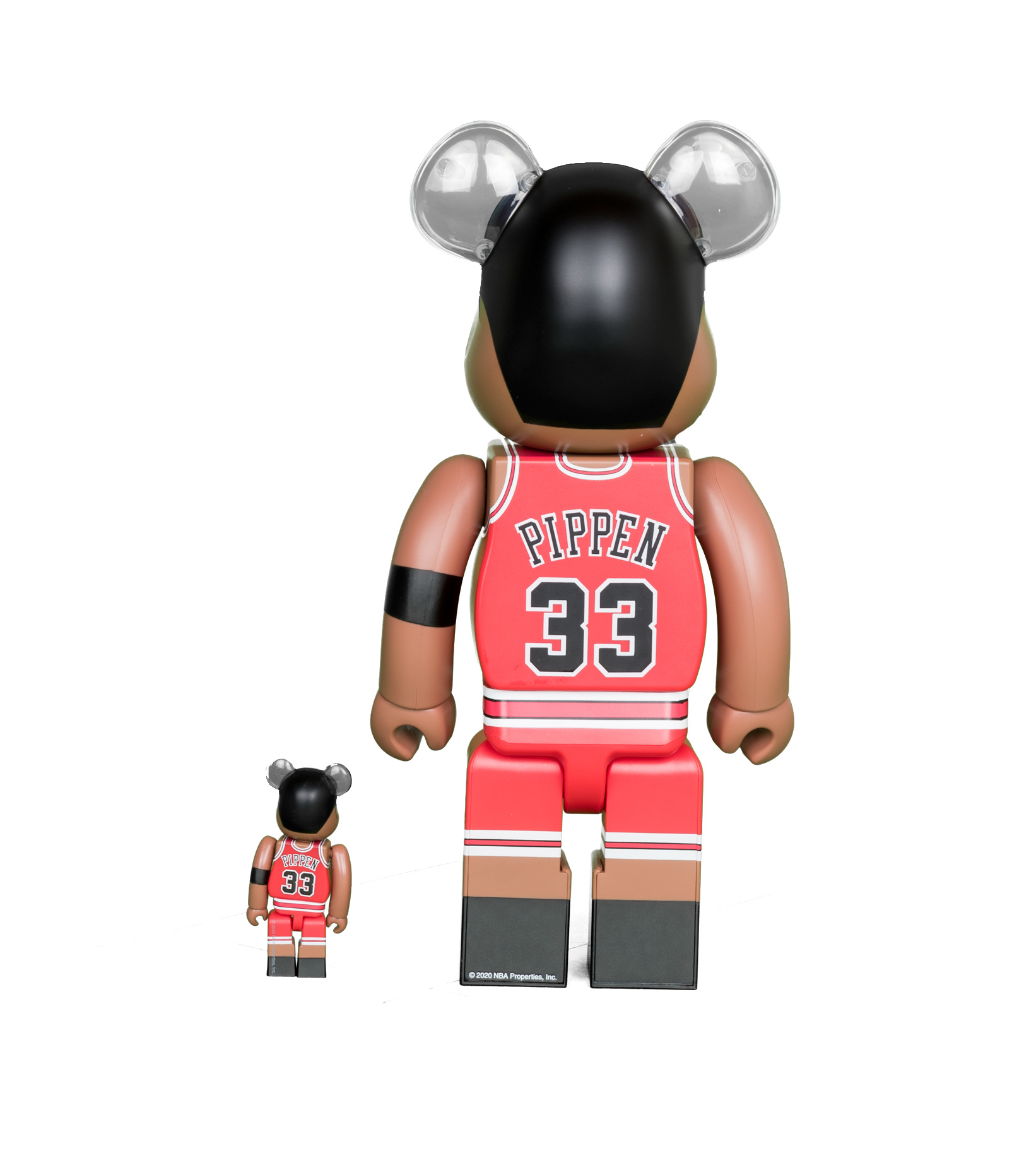 "Scottie Pippen (Chicago Bulls) 100% & 400% Be@Rbrick ""Red""-3"