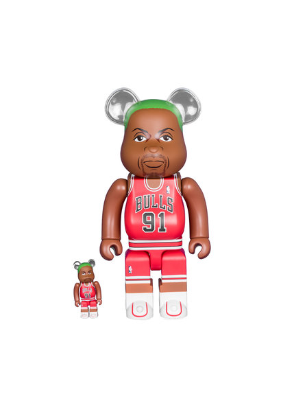 "Dennis Rodman (Chicago Bulls) 100% & 400% Be@Rbrick ""Red"""