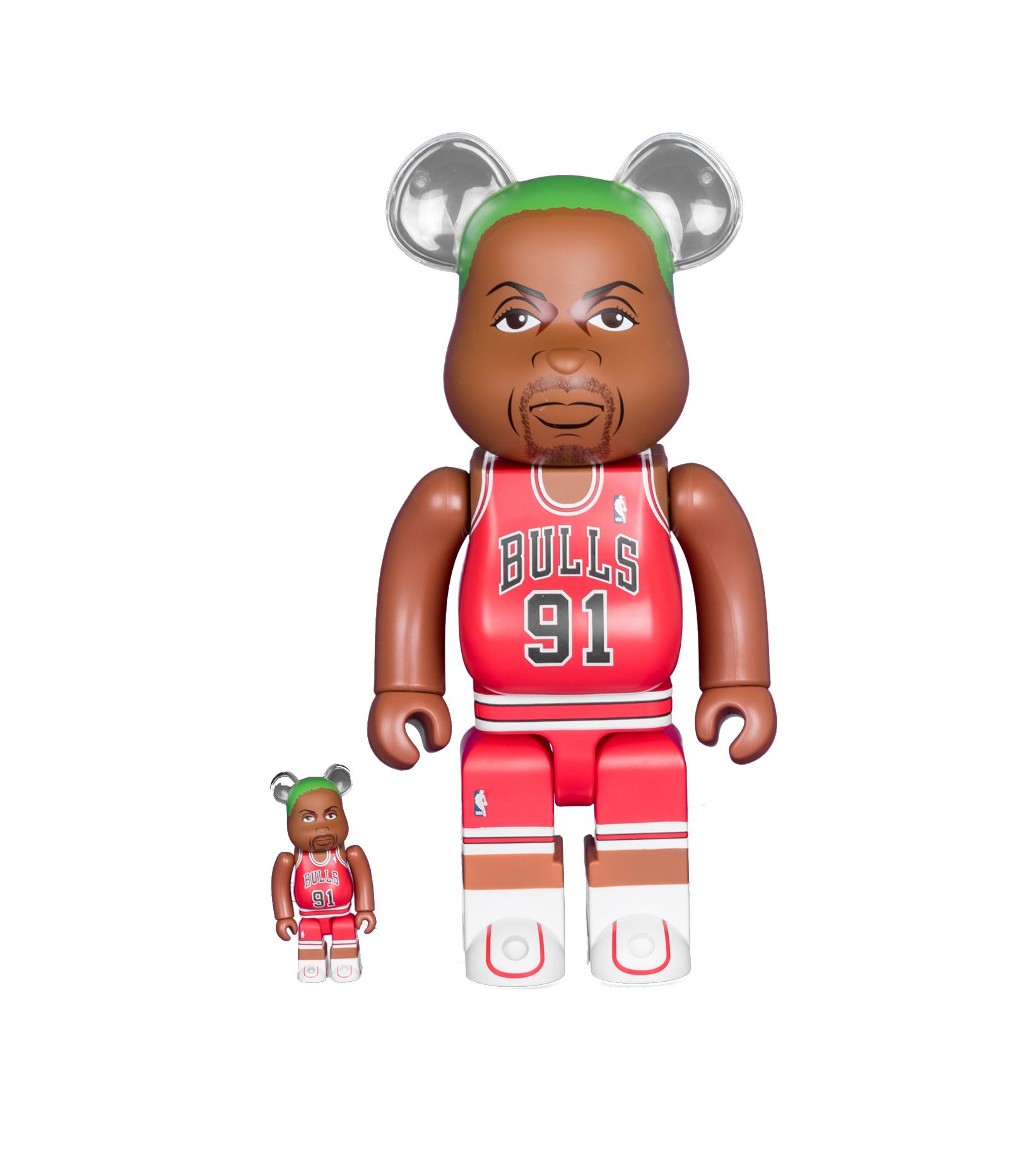 "Dennis Rodman (Chicago Bulls) 100% & 400% Be@Rbrick ""Red""-1"