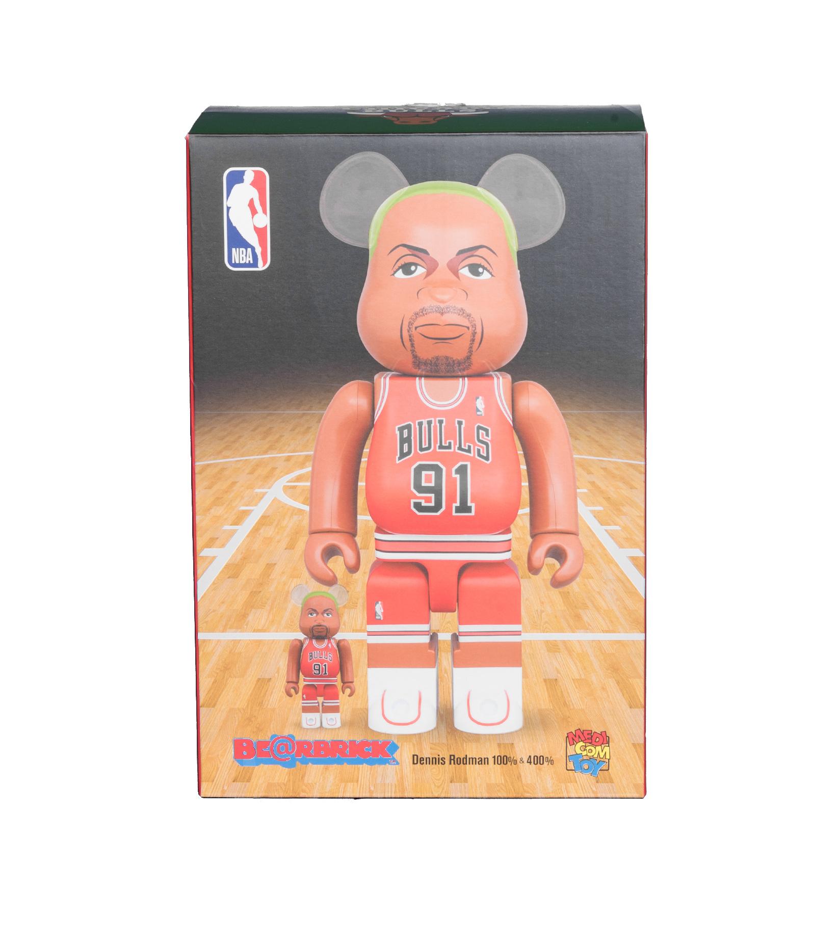 "Dennis Rodman (Chicago Bulls) 100% & 400% Be@Rbrick ""Red""-2"