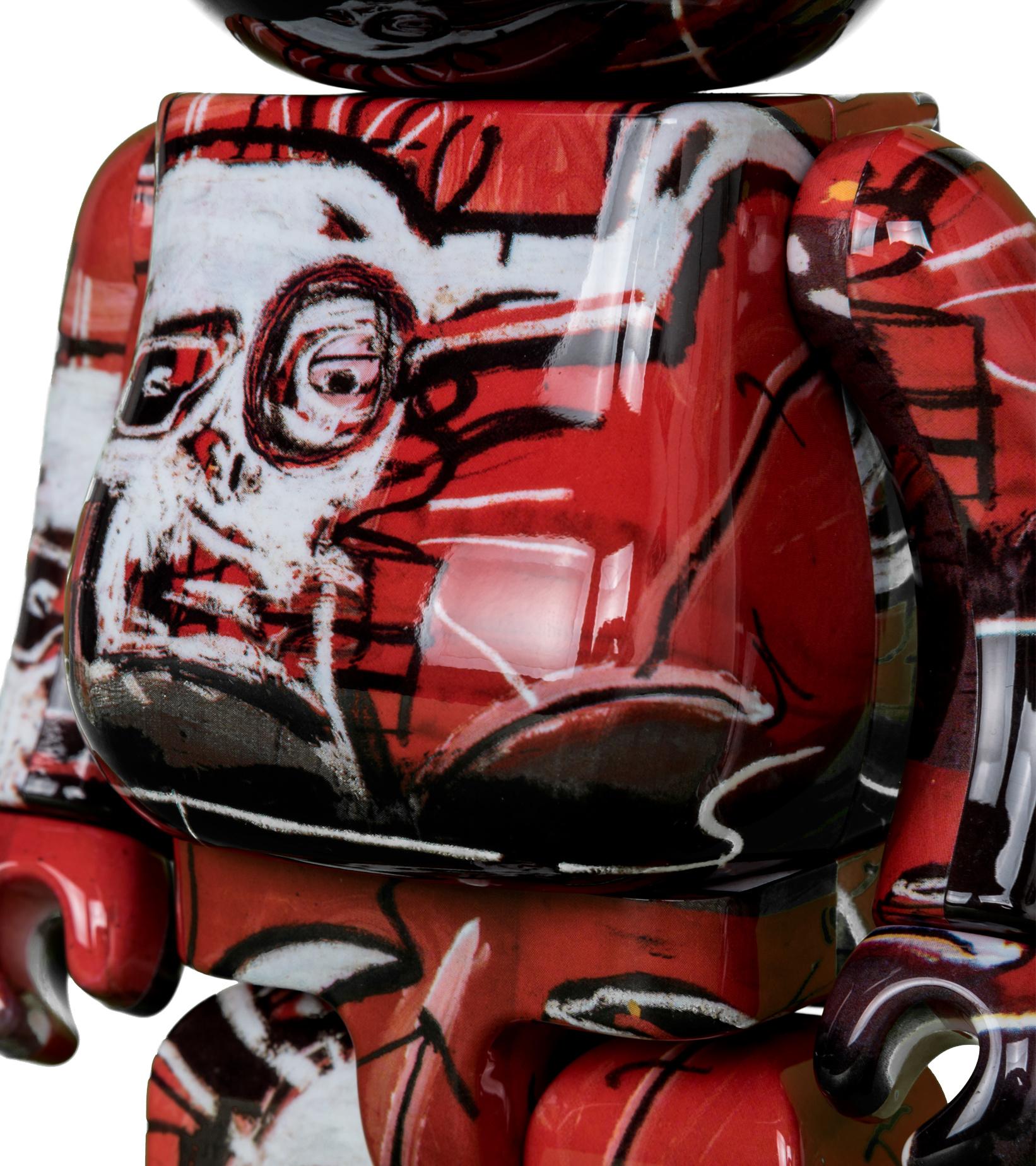 "Jean Michel Basquiat #5 100% & 400% Be@Rbrick ""Black/Red""-4"