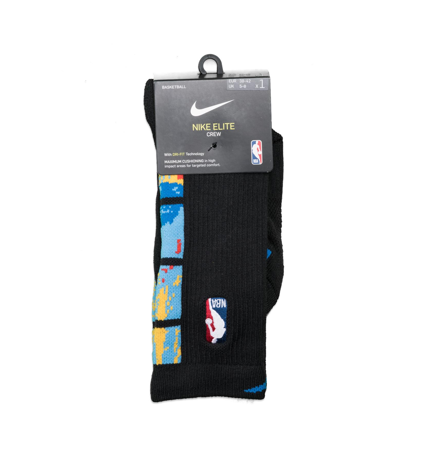 "Brooklyn Nets City Edition '20 Elite Crew Socks ""Black/Royal Blue""-1"