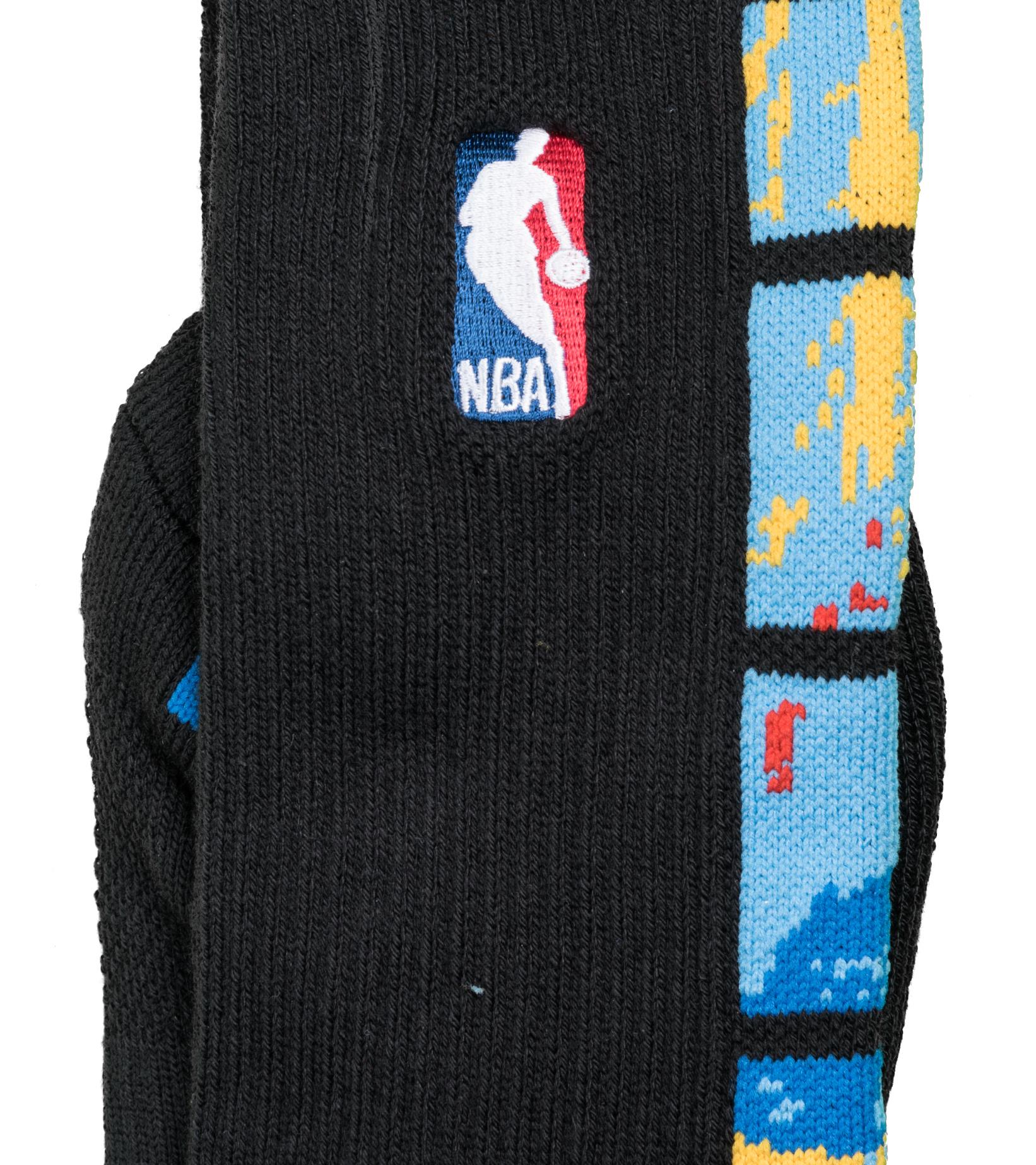 "Brooklyn Nets City Edition '20 Elite Crew Socks ""Black/Royal Blue""-2"