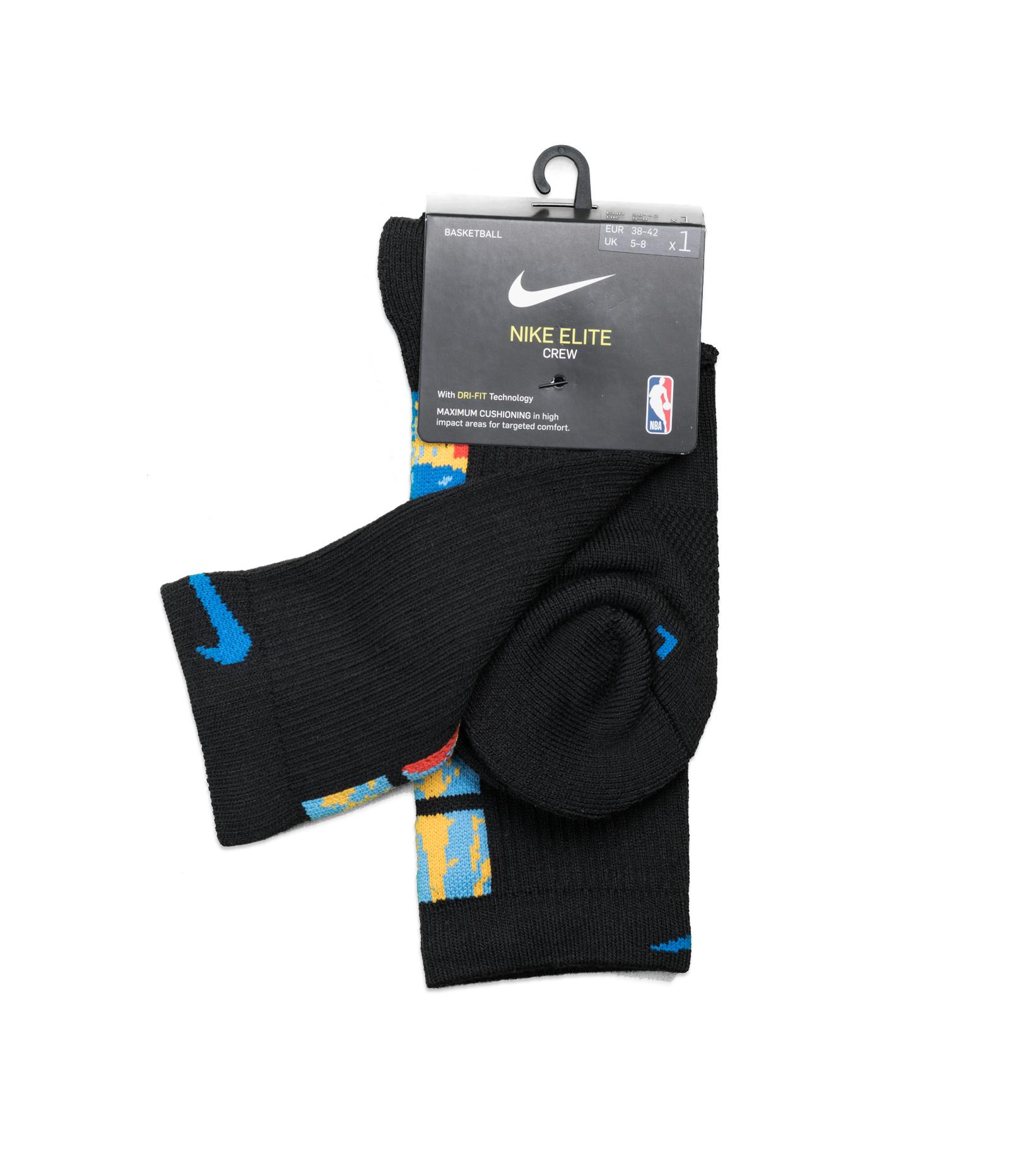 "Brooklyn Nets City Edition '20 Elite Crew Socks ""Black/Royal Blue""-3"