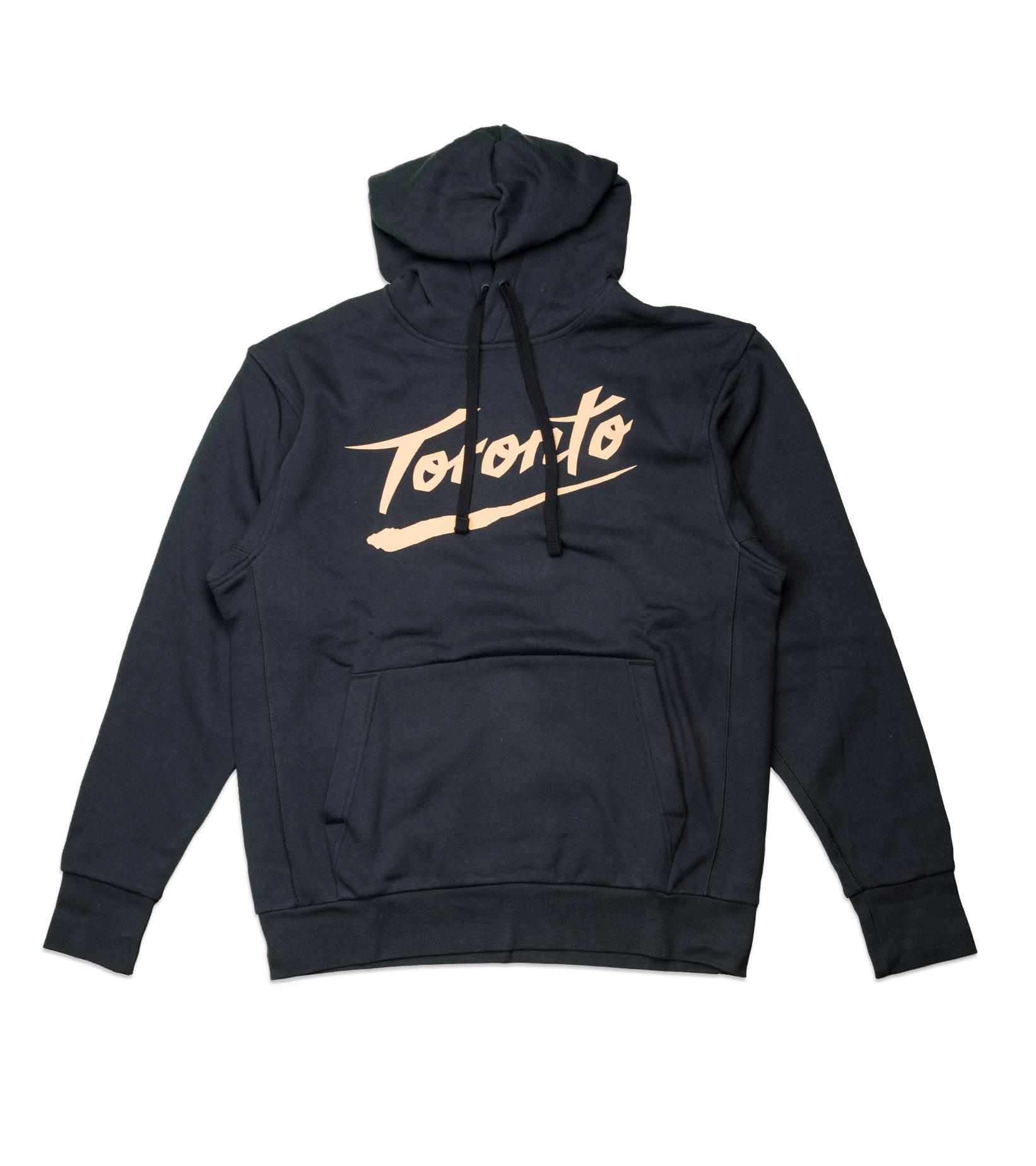 "Toronto Raptors City Edition '20 Essential Hoodie ""Black/Club Gold""-1"
