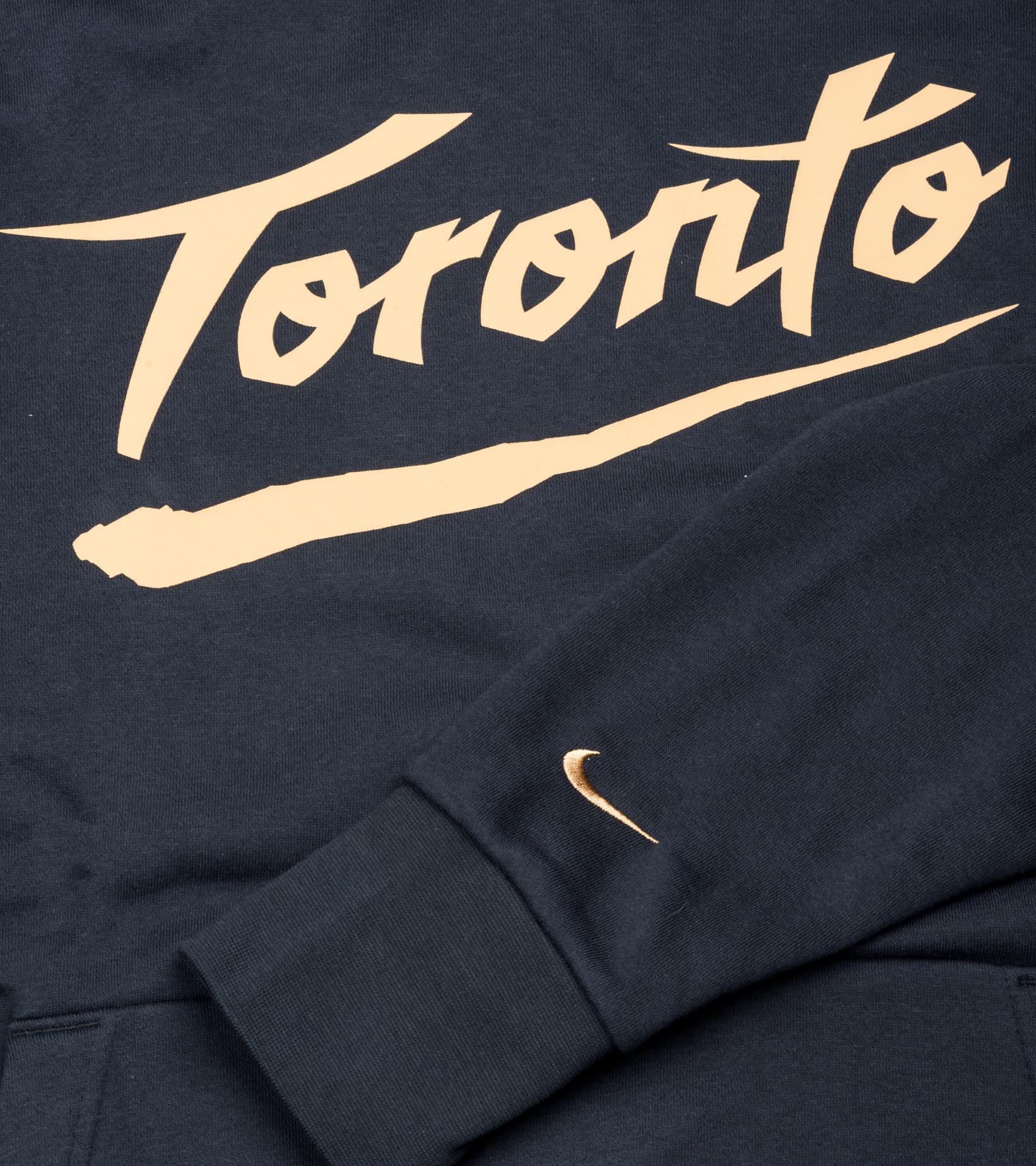 "Toronto Raptors City Edition '20 Essential Hoodie ""Black/Club Gold""-3"