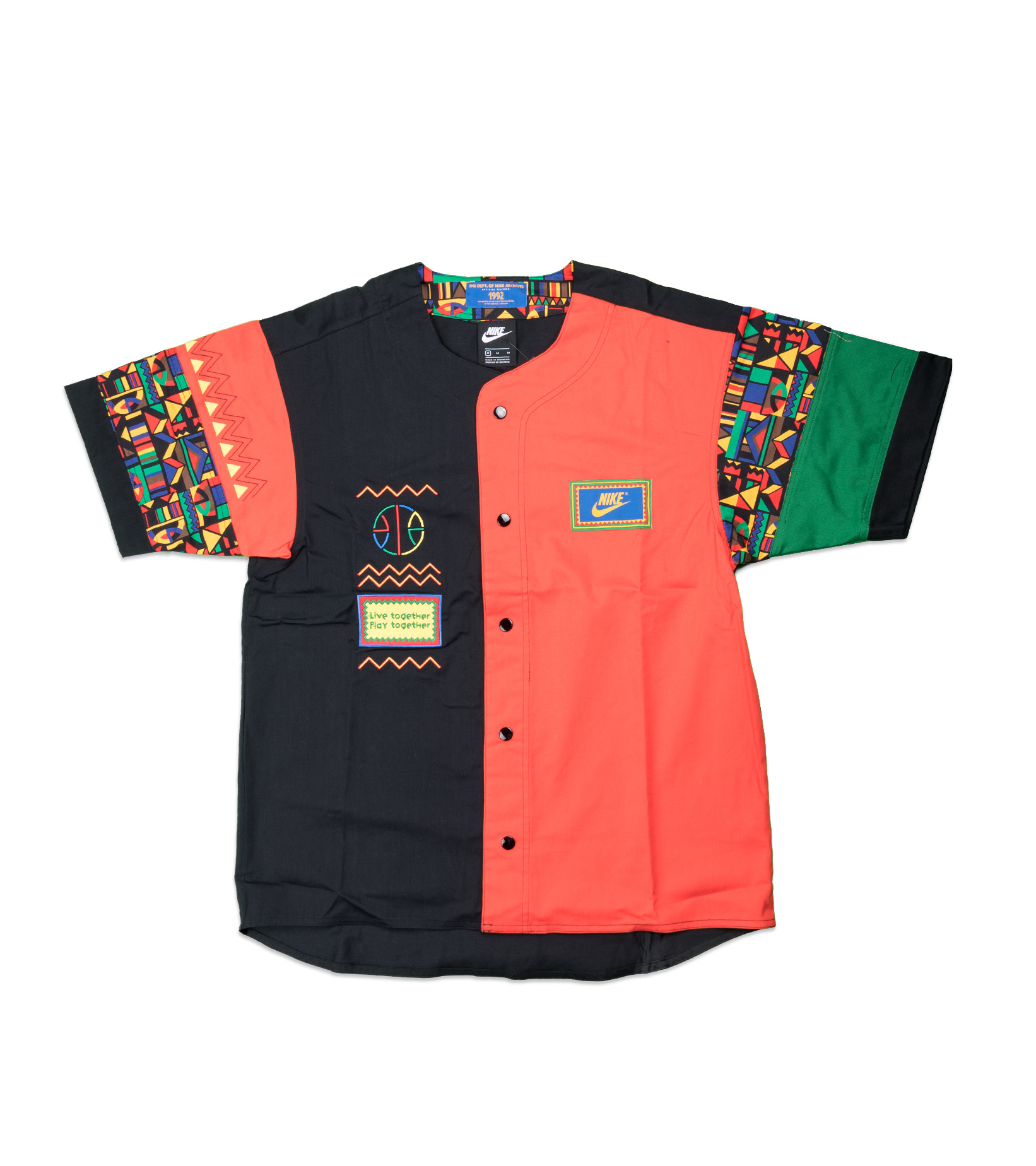 """Re-Issue Urban Jungle Shirt  """"Black/Chile Red""""-1"""
