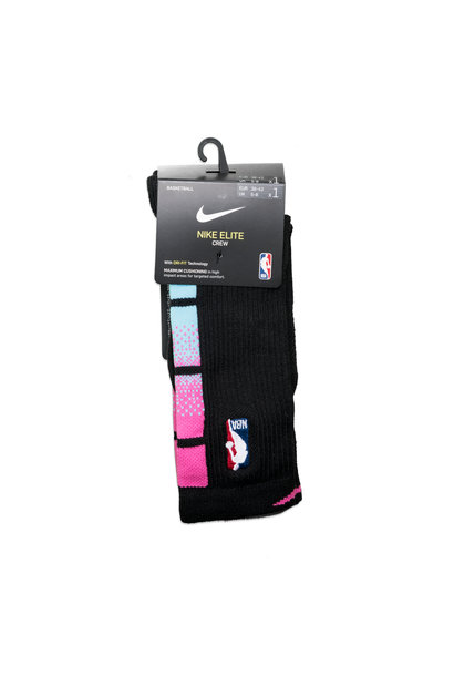 "Miami Heat City Edition Socks ""Black/Laser Fuchsia"""