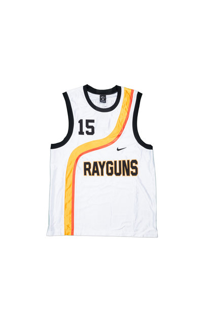 "Rayguns Basketball Premium Jersey ""White/University Gold"""