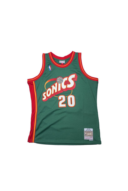 "Seattle Supersonics '95-'96 G. Payton Swingman Jersey ""Dark Green"""