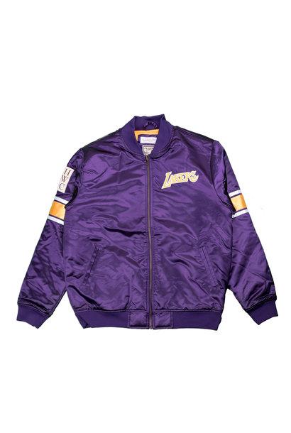 "LA Lakers Heavyweight Satin Jacket ""Purple"""