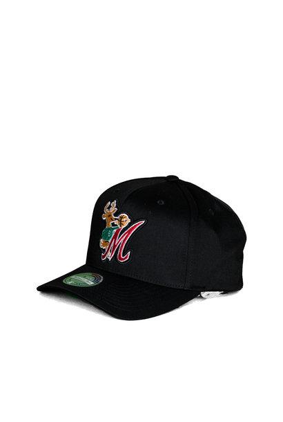 """Milwaukee Bucks Letterman 110 Cap """"Black"""""""