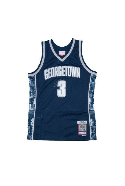 """Georgetown University '95- 96 A. Iverson Swingman Jersey  """"Navy"""""""