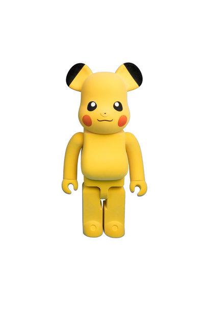 "Pokemon Flocked Pikachu 1000% Be@Rbrick ""Yellow"""