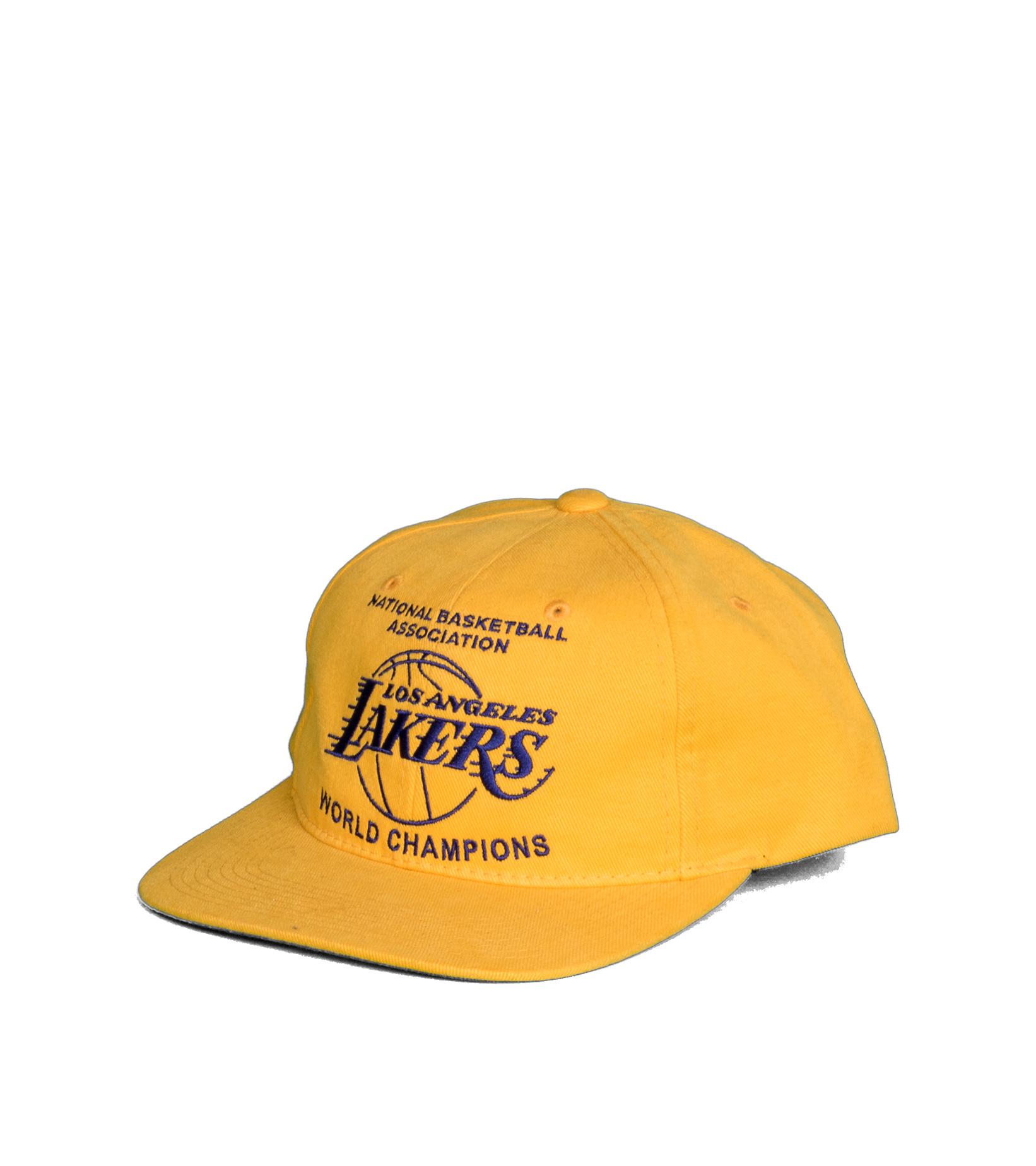 "LA Lakers Champions Deadstock Snapback ""Yellow""-1"