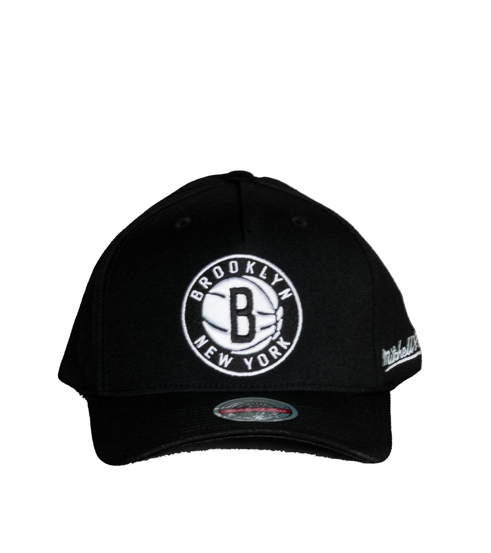 "Brooklyn Nets Dropback Solid Redline Snapback ""Black""-3"