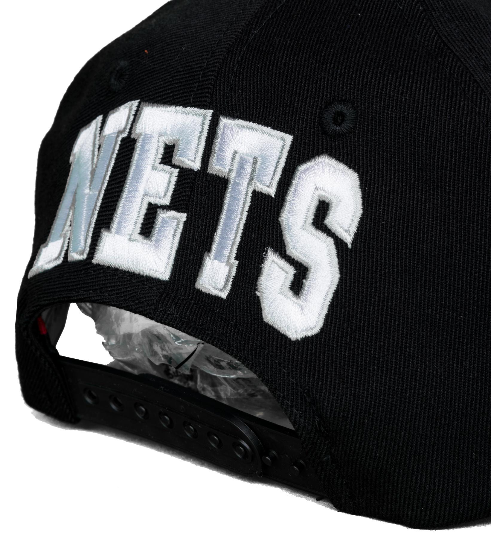 "Brooklyn Nets Dropback Solid Redline Snapback ""Black""-5"