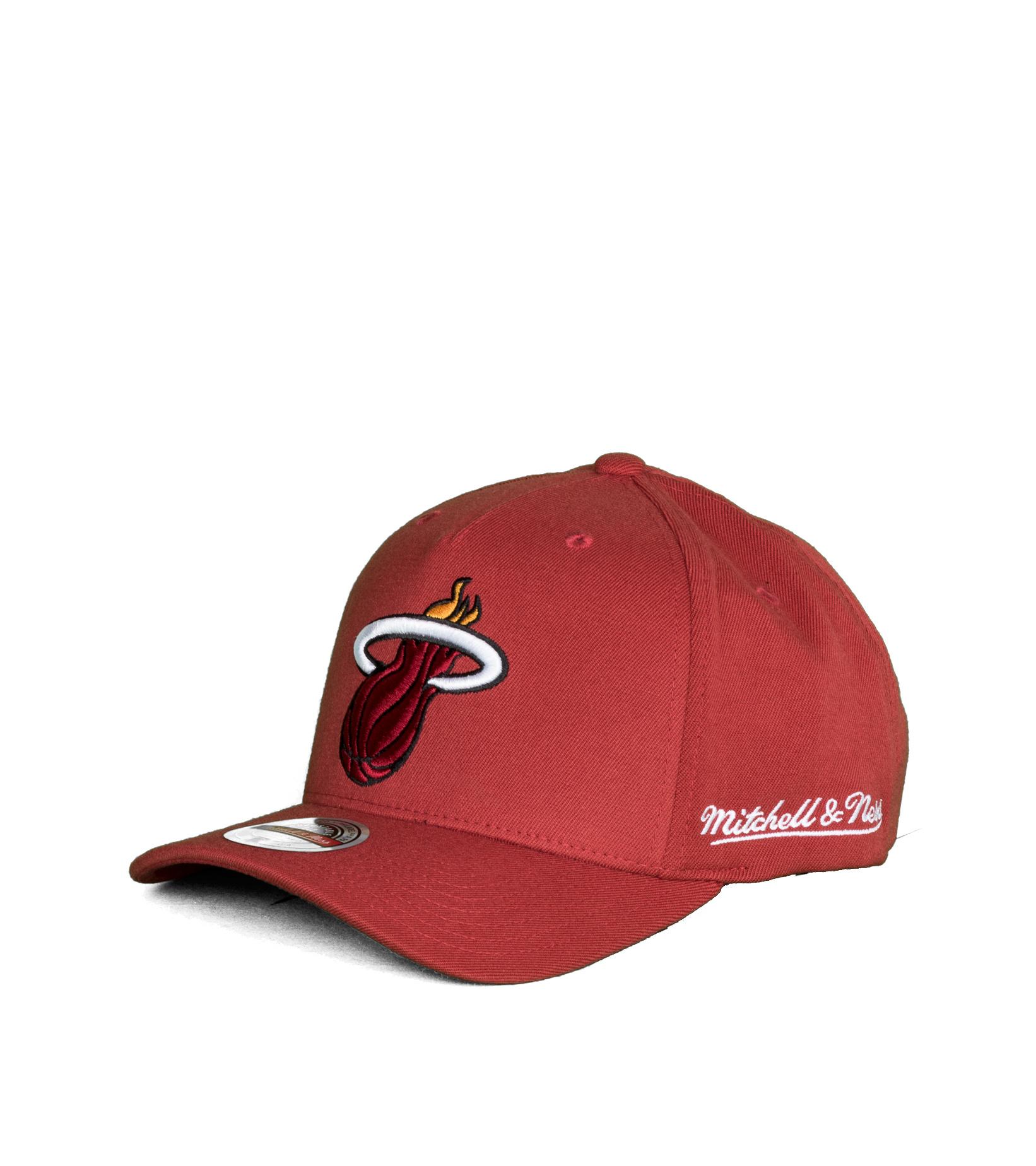 "Miami Heat Dropback Solid Redline Snapback ""Cardinal""-1"