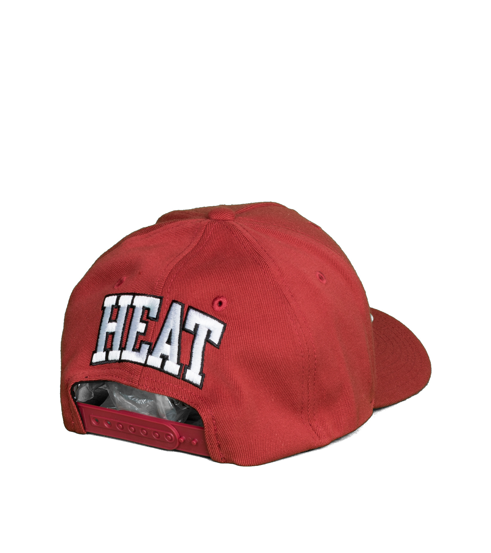 "Miami Heat Dropback Solid Redline Snapback ""Cardinal""-2"