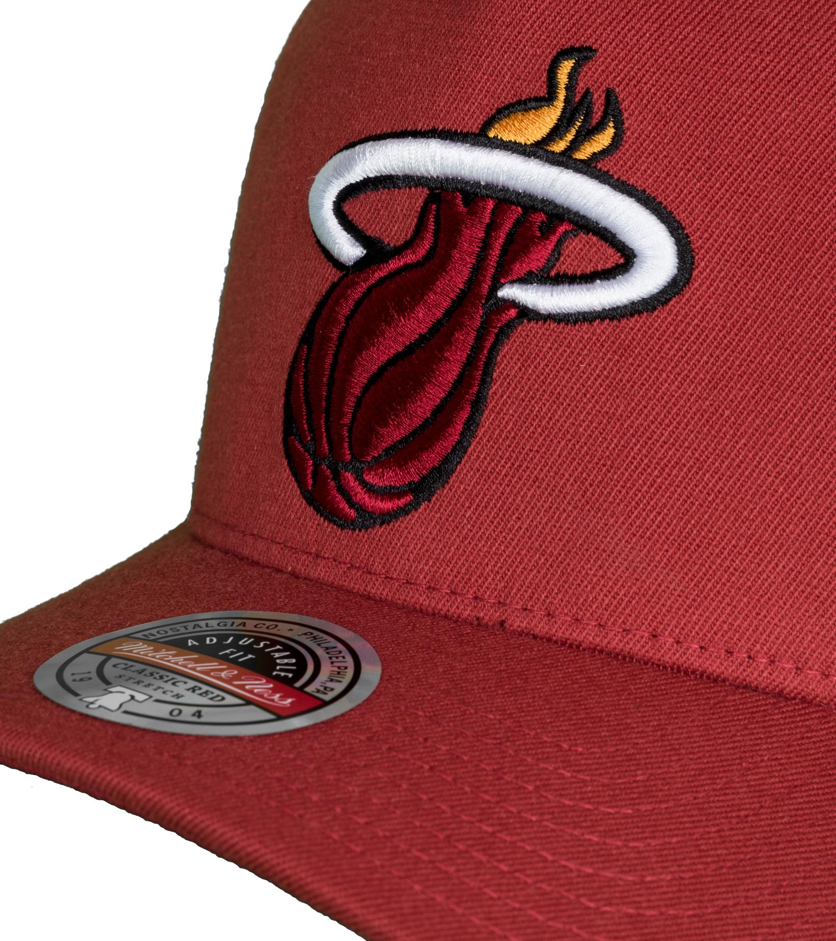 "Miami Heat Dropback Solid Redline Snapback ""Cardinal""-4"