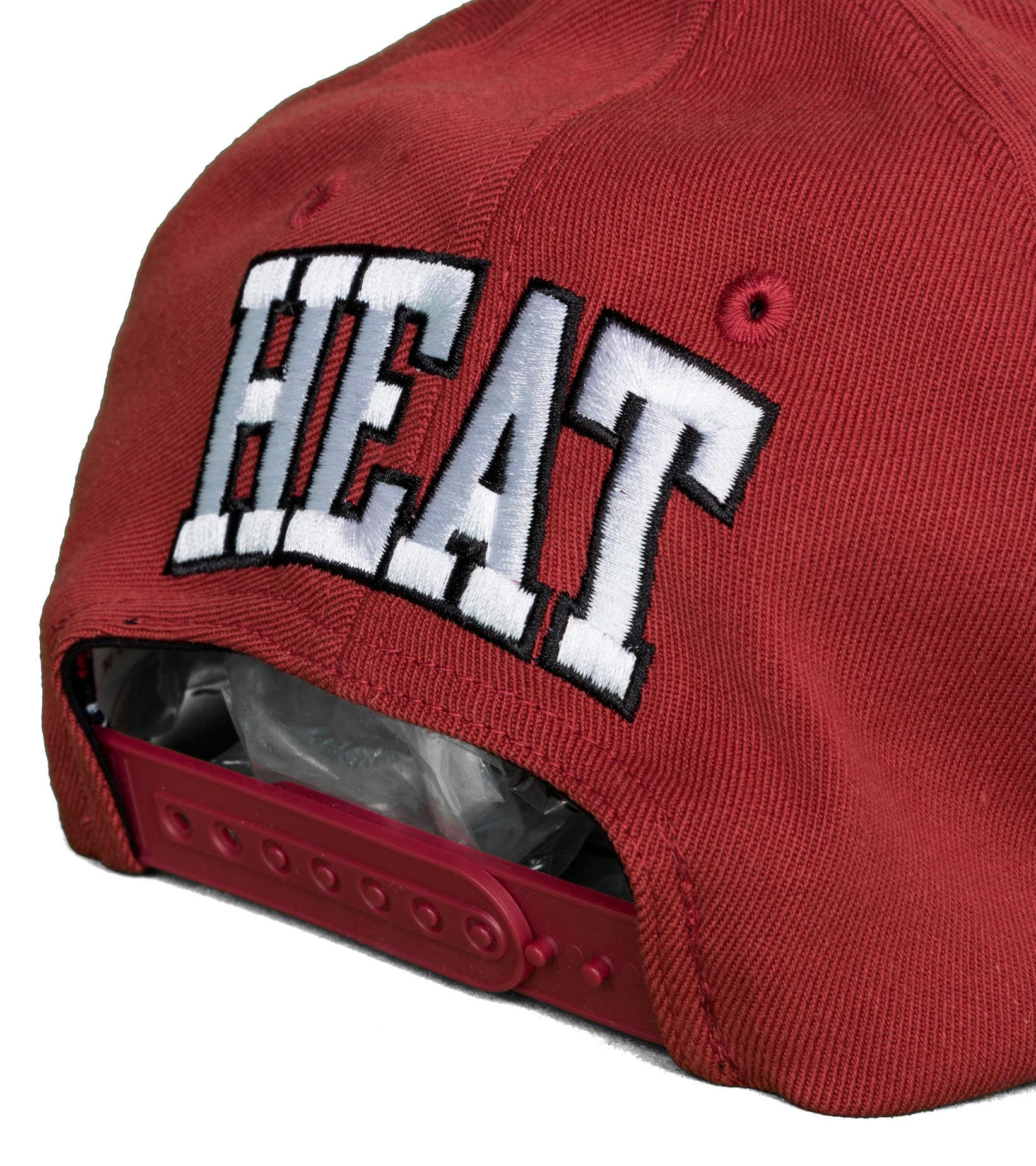 "Miami Heat Dropback Solid Redline Snapback ""Cardinal""-5"