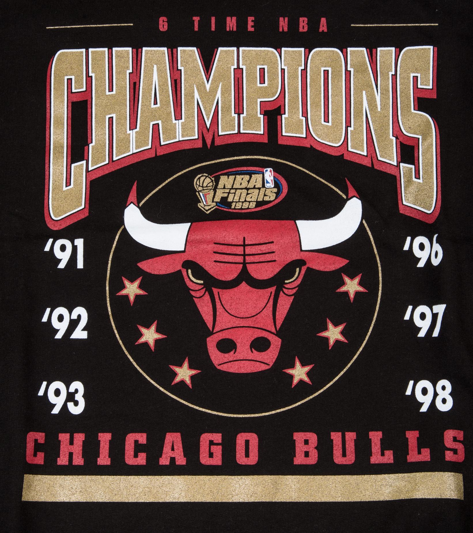 "Chicago Bulls 6 Time Crewneck Sweater ""Black""-2"