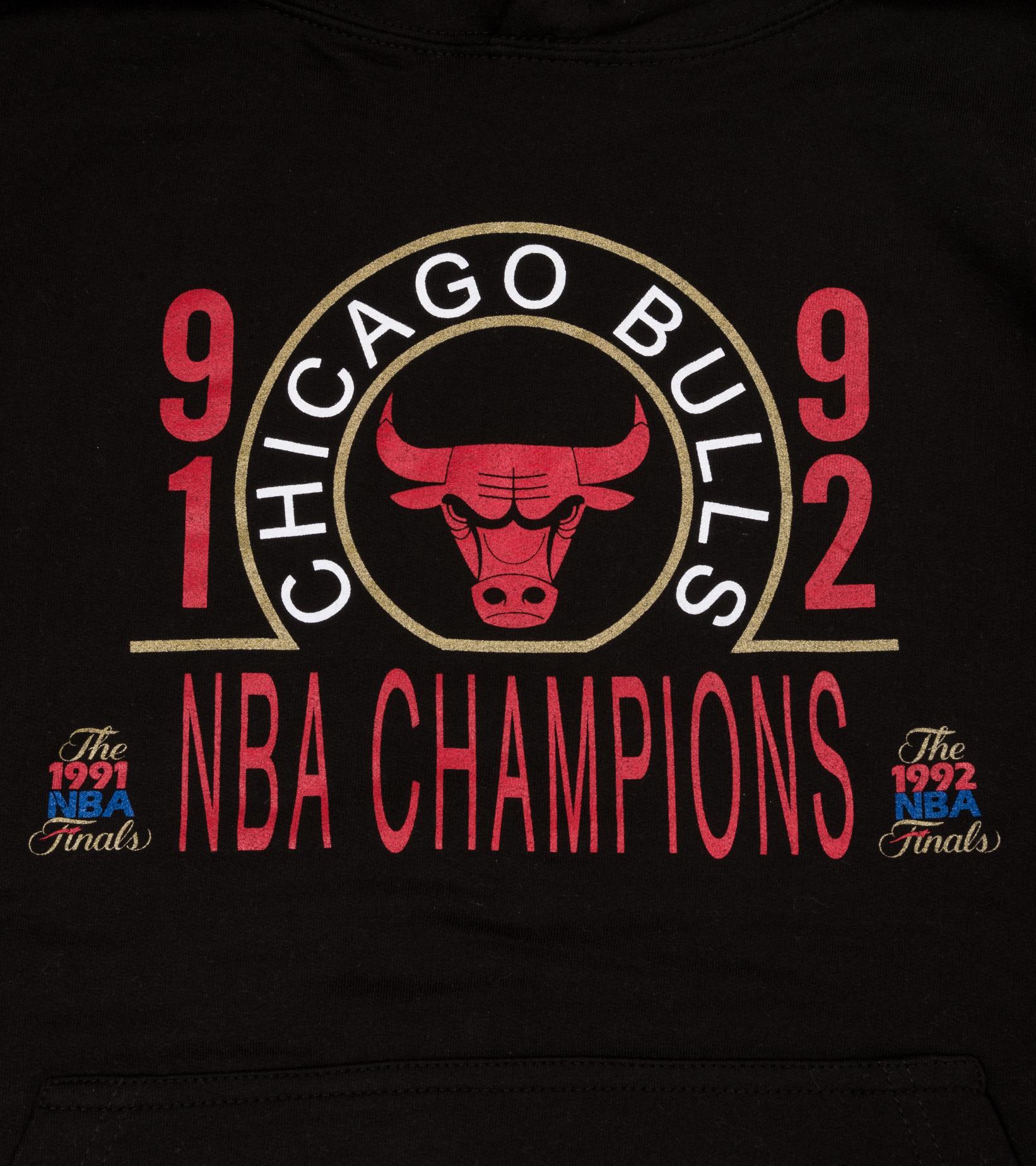 "Chicago Bulls 91-92 Champions Hoodie ""Black""-2"