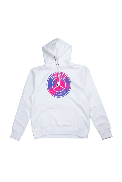 "PSG Logo Fleece Hoodie ""White/Psychic Purple"""