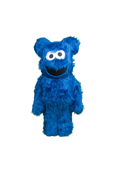 "Cookie Monster Costume 1000% Be@rbrick ""Blue"""