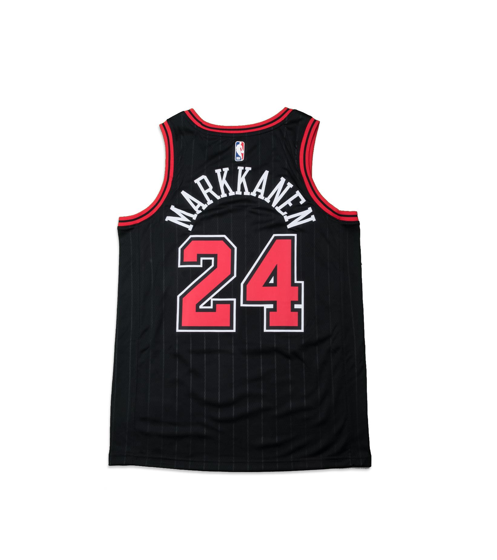 """L. Markkanen Statement Edition '20 Swingman Jersey """"Black""""-4"""