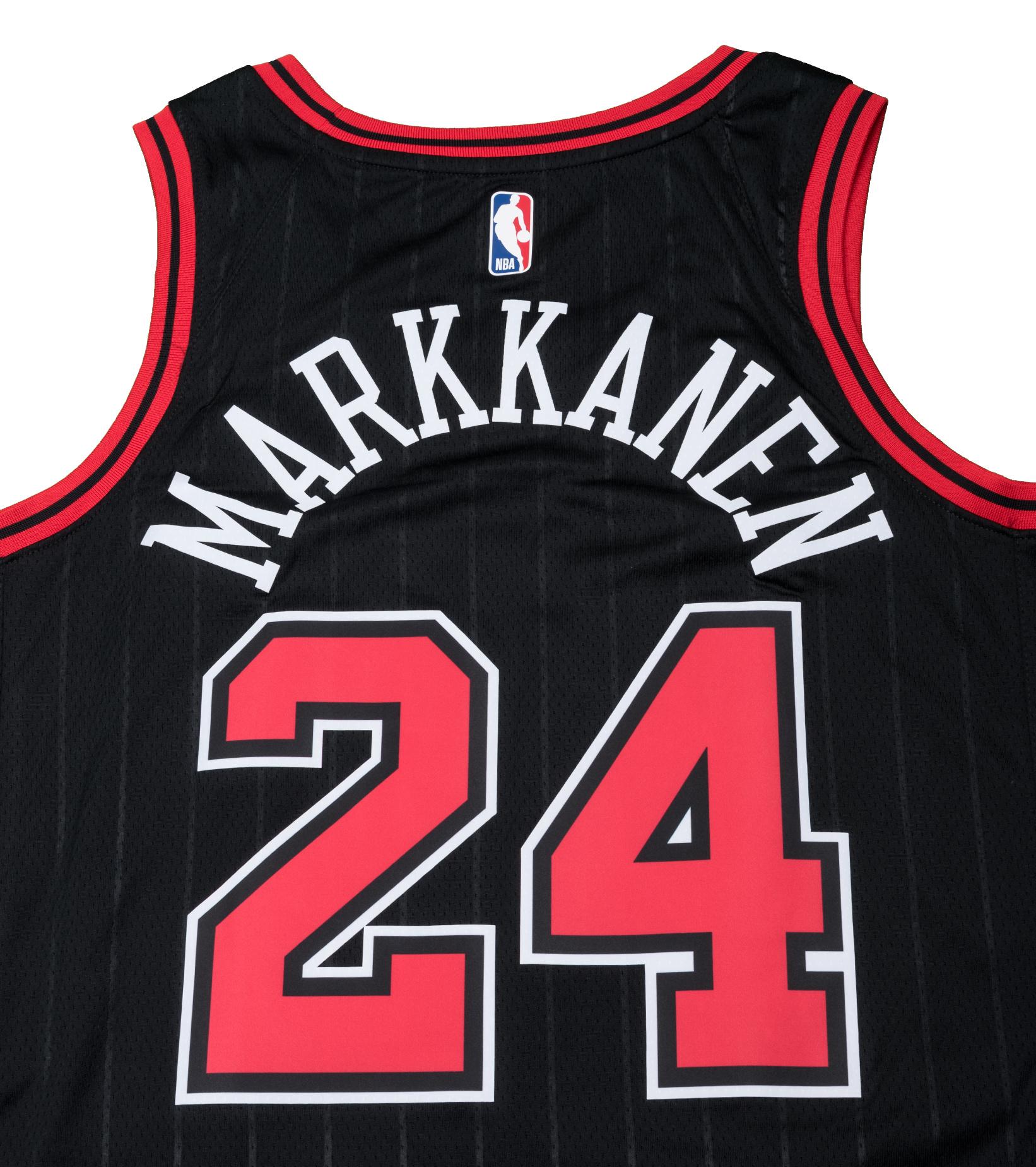 """L. Markkanen Statement Edition '20 Swingman Jersey """"Black""""-5"""