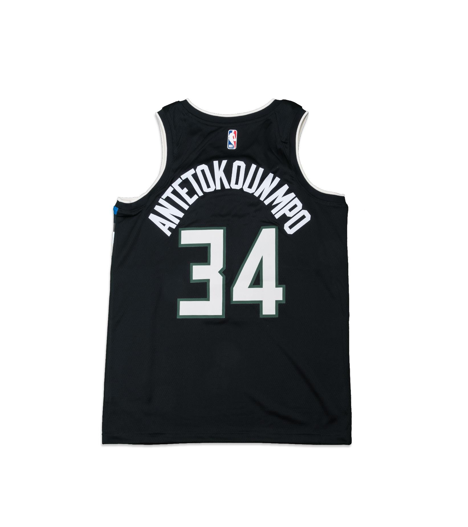 "G. Antetokounmpo Statement Edition '20 Swingman Jersey ""Black""-4"