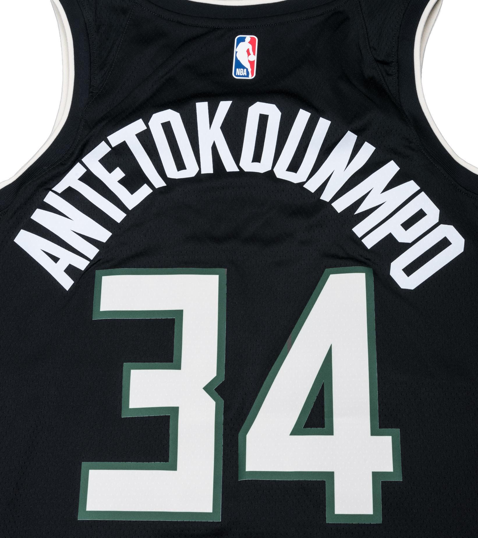 "G. Antetokounmpo Statement Edition '20 Swingman Jersey ""Black""-5"