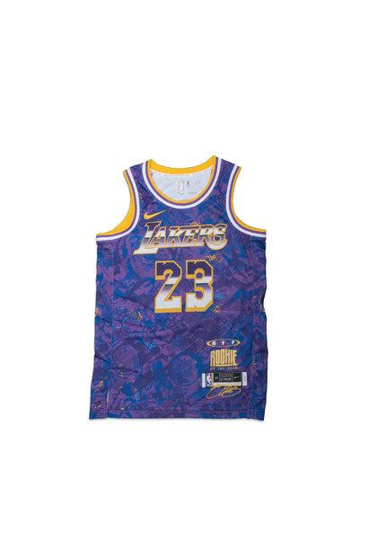 """L. James Select Series '21 Swingman Jersey """"Field Purple"""""""