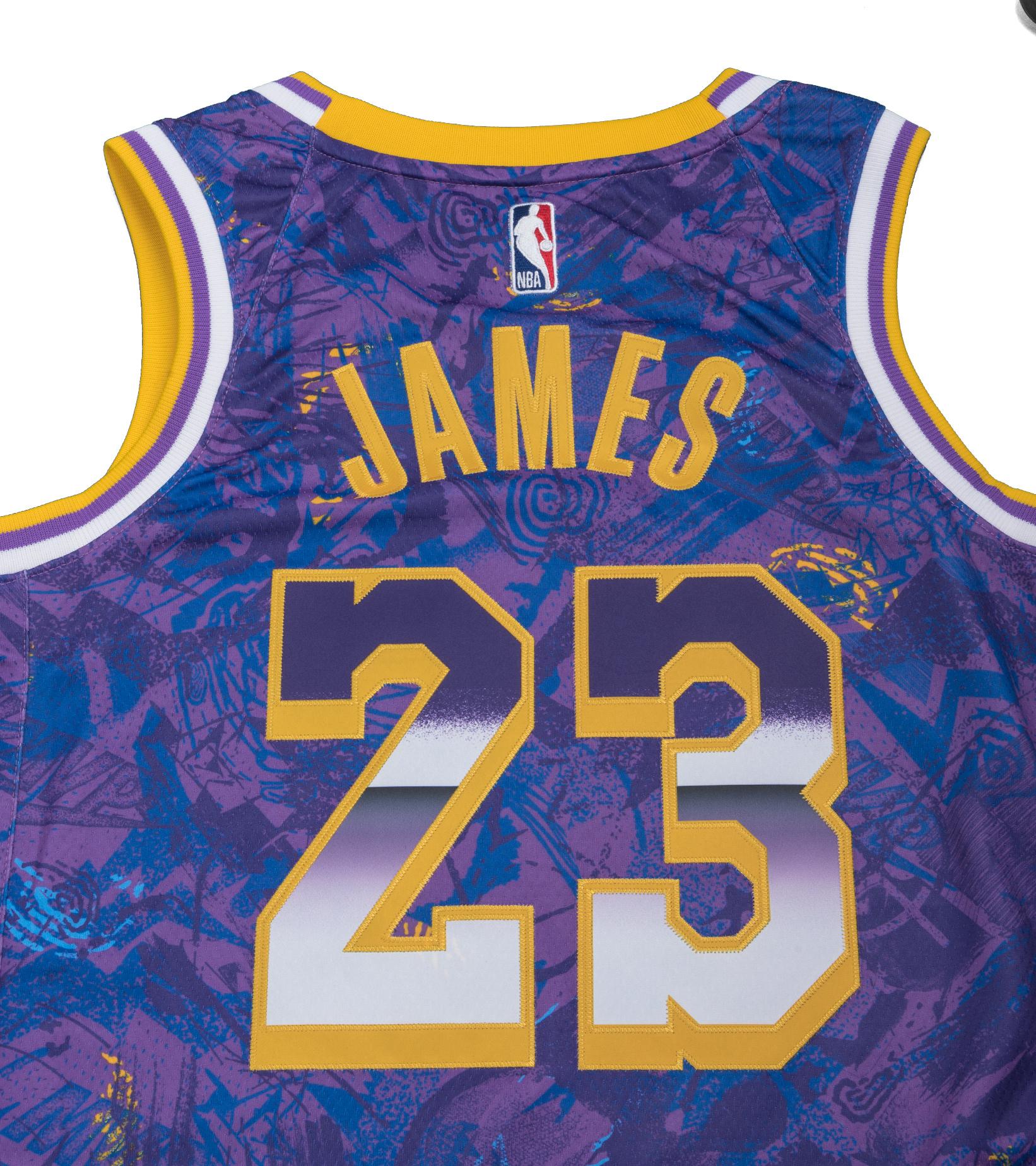 """L. James Select Series '21 Swingman Jersey """"Field Purple""""-6"""