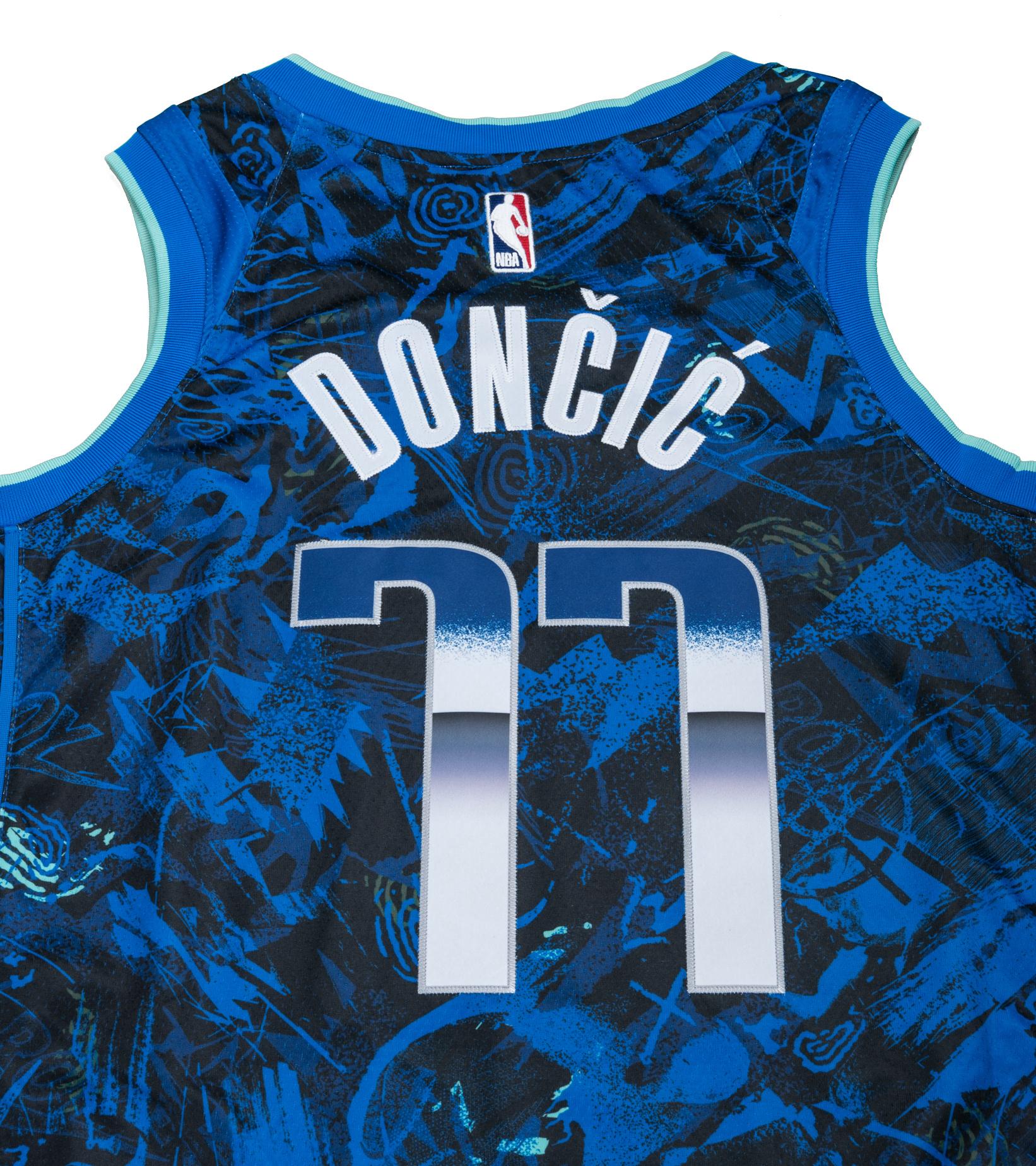"""L. Doncic Select Series '21 Swingman Jersey """"Hyper Royal""""-6"""