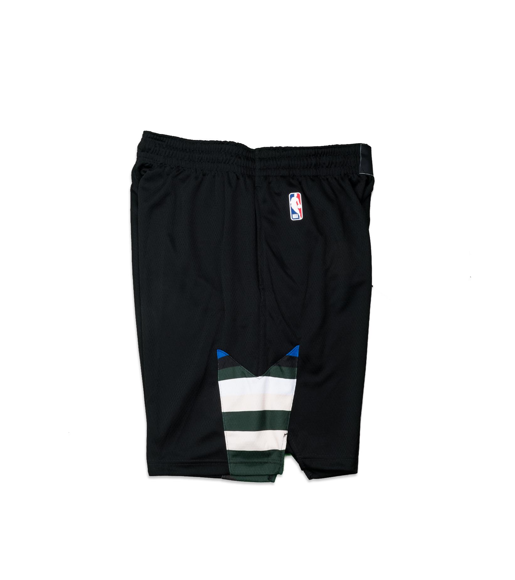 """Milwaukee Bucks Statement Edition '20 Swingman Short """"Black/White""""-5"""
