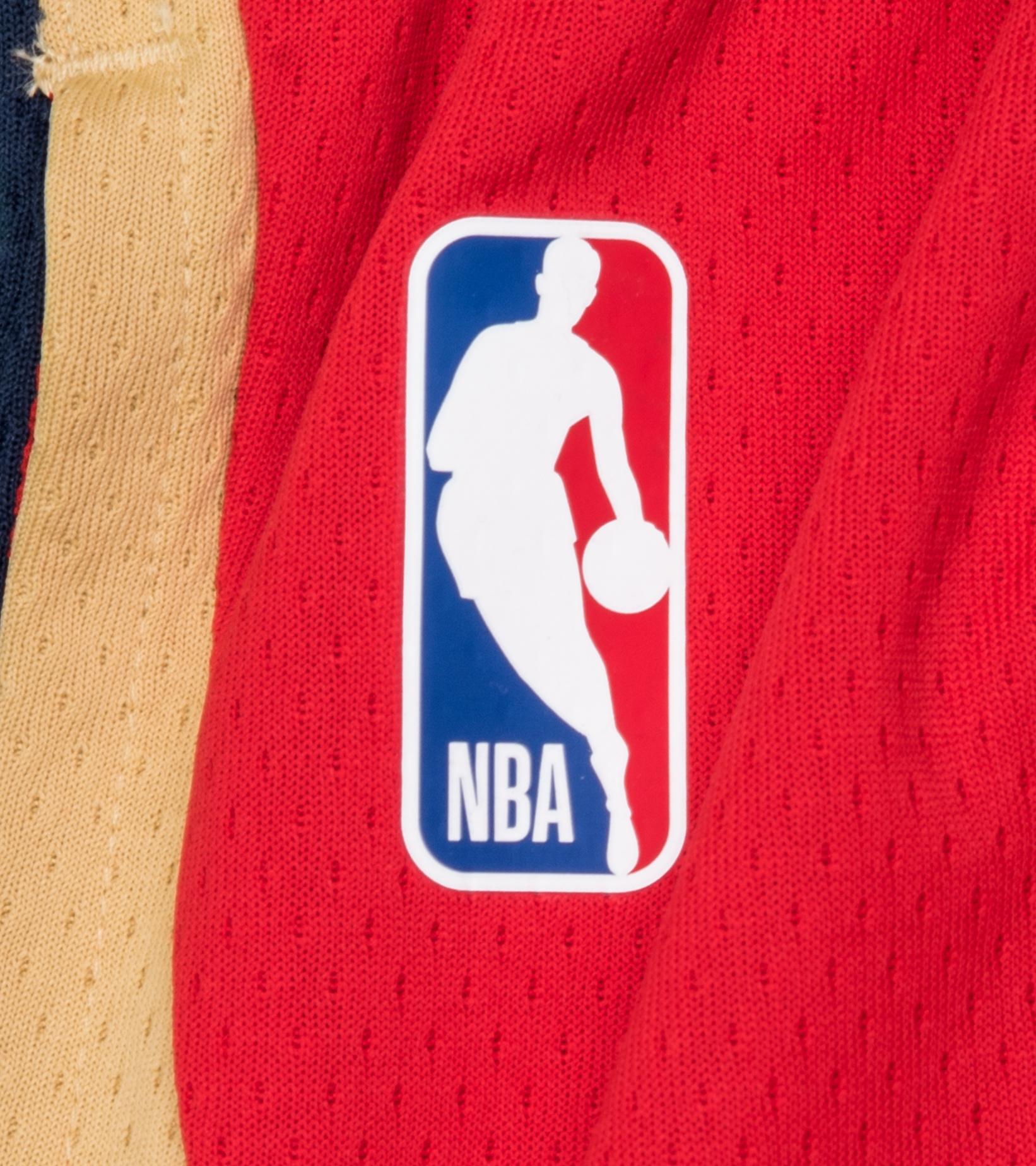 "New Orleans Pelicans Statement Edition '20 Swingman Short ""University Red/College Navy""-2"