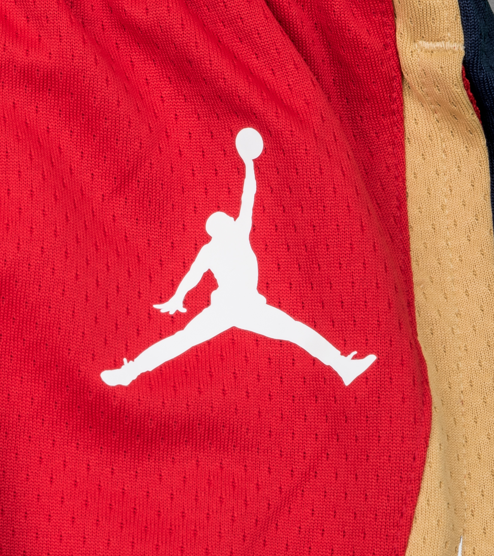 "New Orleans Pelicans Statement Edition '20 Swingman Short ""University Red/College Navy""-3"