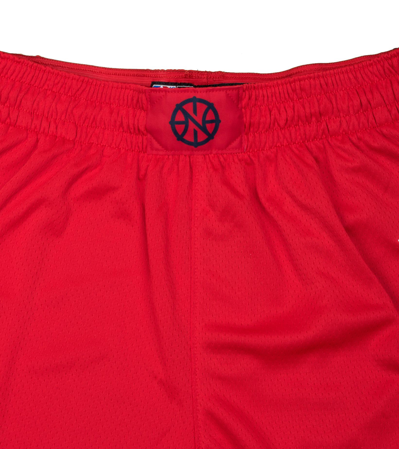 "New Orleans Pelicans Statement Edition '20 Swingman Short ""University Red/College Navy""-4"