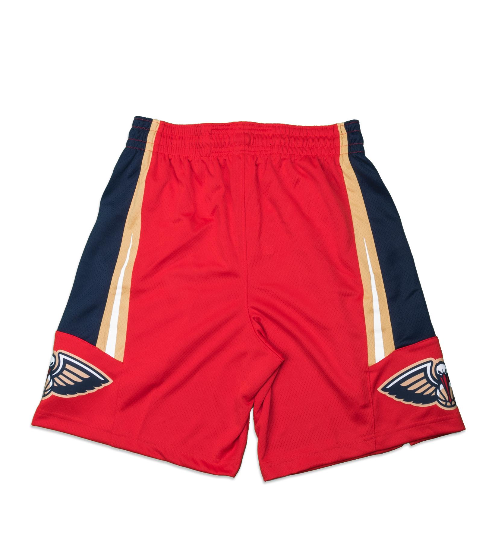 "New Orleans Pelicans Statement Edition '20 Swingman Short ""University Red/College Navy""-7"