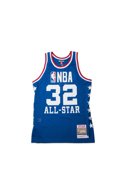 """West All Star Game '85 M. Johnson Authentic Jersey """"Royal"""""""